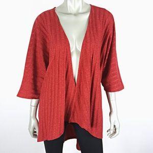 LuLaRoe Lindsay Kimono Cardigan Solid Red Medium